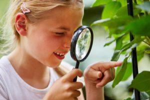 curiosité enfant loupe