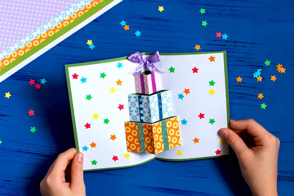 carte de vœux pop up faite maison