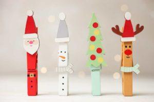 Décorations de Noël en pinces à linge