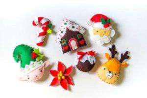 Décorations de Noël DIY feutrine