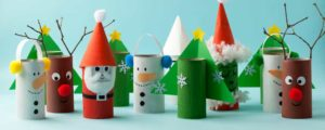 Décorations de Noël rouleaux de papier toilette