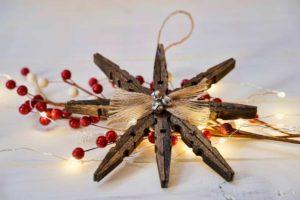 Décoration de Noël pinces à linge