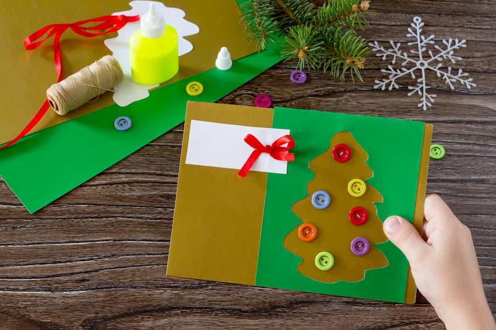 Carte de Vœux Papier et boutons