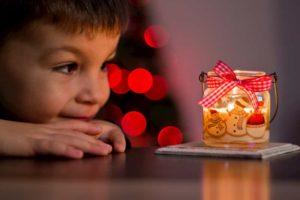 Photophore de Noël fait maison