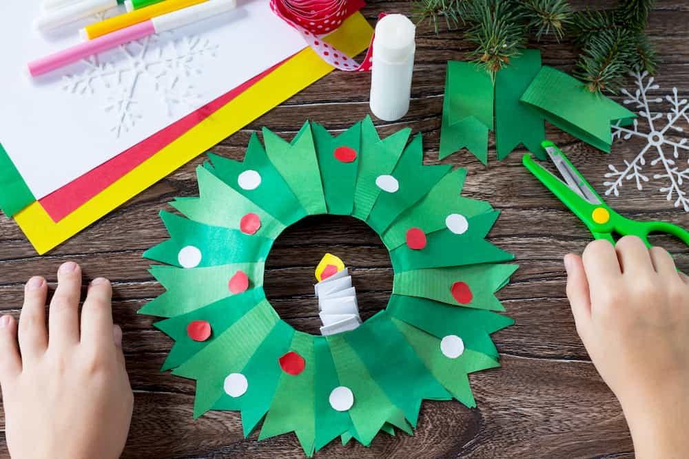 Couronne de Noël en papier