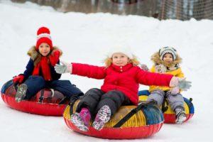 activité enfant montagne Snow tubing