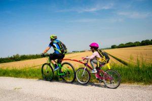 voyage vélo enfant follow me