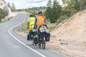 voyage en vélo avec sacoches
